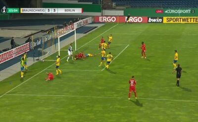 Puchar Niemiec. Eintracht Brunszwik - Hertha 3:3. Gol Peter Pekarik