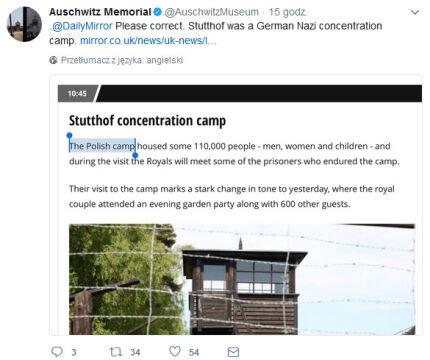 Muzeum Auschwitz interweniowało na Twitterze
