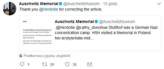 Para książęca Cambridge Kate i William odbyła we wtorek wizytę w b. niemieckim obozie koncentracyjnym Stutthof