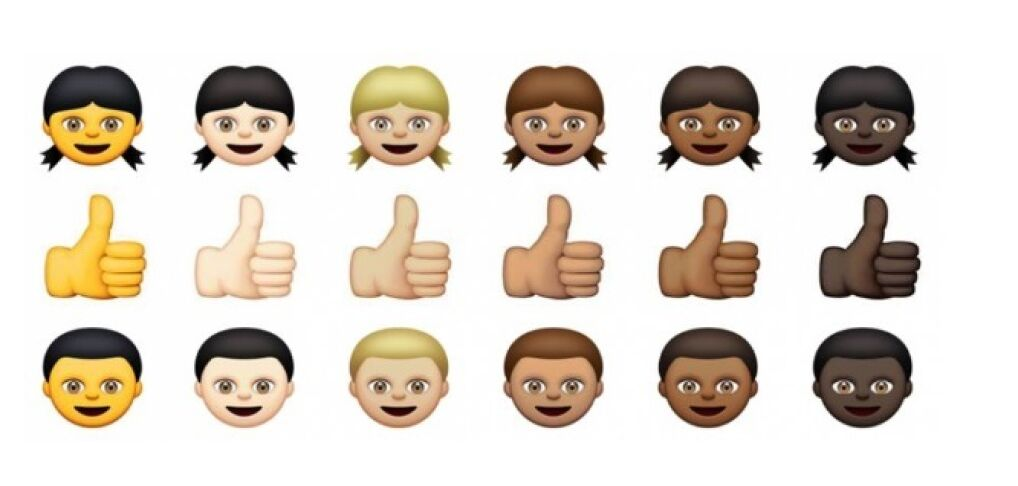 Dywersyfikacja rasowa w emoji