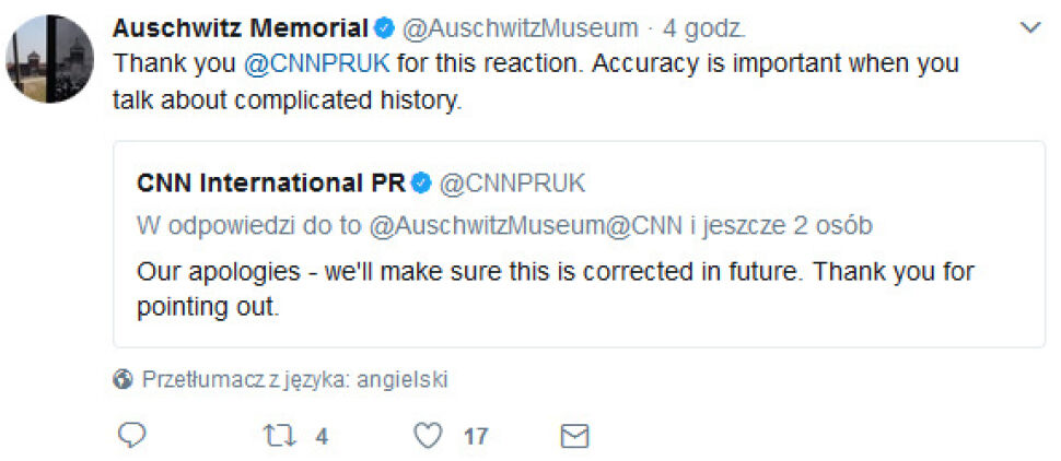 Muzeum poprosiło o poprawienie błędów