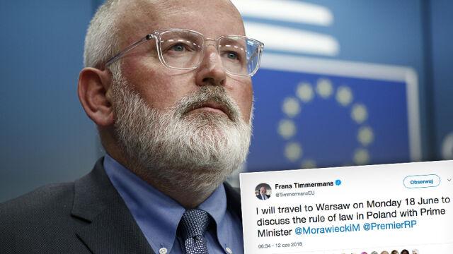 Timmermans przyleci do Warszawy. Jest termin spotkania z Morawieckim