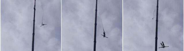 Podczas skoku na bungee odpięła się lina.  Spadł z wysokości kilkudziesięciu metrów