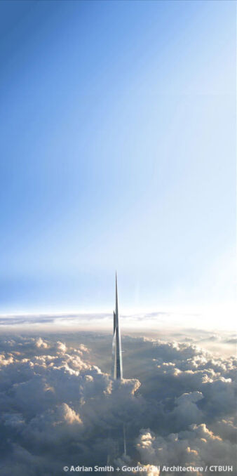 Wizualizacja powstającej w Arabii Saudyjskiej Jeddah Tower