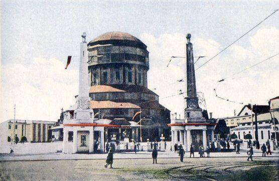 Wieża Górnośląska w 1929 r. Widok od strony Mostu Dworcowego