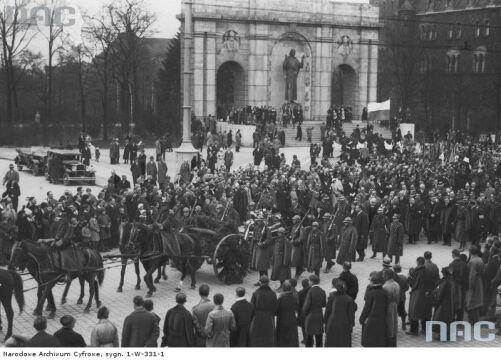 Pogrzeb pułkownika Milskiego-Łapińskiego w 1934r.