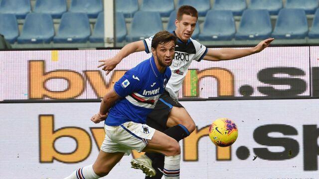 Goście kończyli mecz w osłabieniu, Sampdoria tego nie wykorzystała