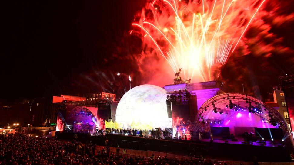 Koncert, fajerwerki i zagraniczni goście. Niemcy świętowali upadek muru