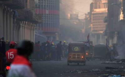 Antyrządowe protesty i chaos na ulicach Bagdadu