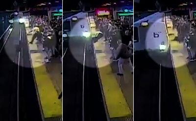 Spadł wprost pod nadjeżdżający pociąg. Ratunek nadszedł w ostatniej chwili