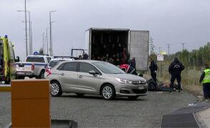 W grecji znaleziono ciężarówkę z 41 migrantami. Kierowca został zatrzymany