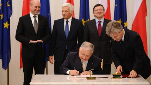 Prezydent podpisał Traktat  Europa dziękuje
