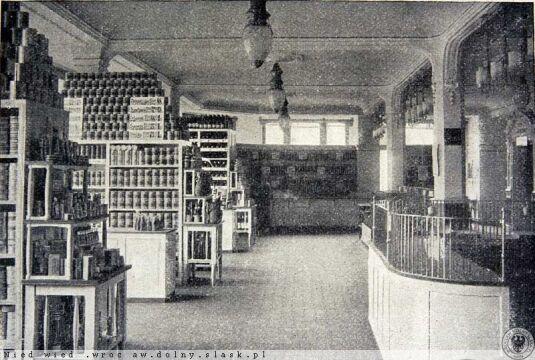 Dział spożywczy w domu handlowym w 1905 roku