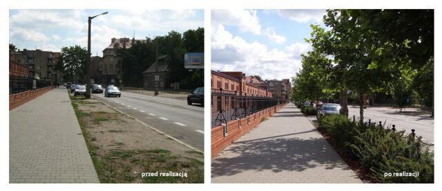 W 2012 r. posadzono kolejne drzewa na odcinku pomiędzy ul. Reymonta a ul. Wojskową