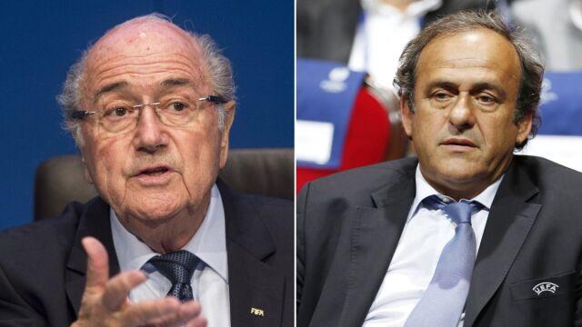Blatter i Platini wyrzuceni z piłki na długie lata