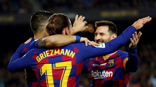 Hat-trick Messiego, asysta bramkarza, gol piętą Suareza. Barcelona zabawiła się z Mallorcą
