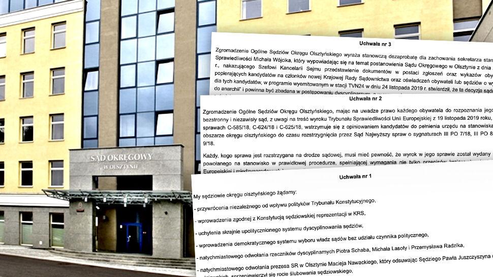 Wstrzymują opiniowanie kandydatów, żądają przywrócenia sędziego Juszczyszyna