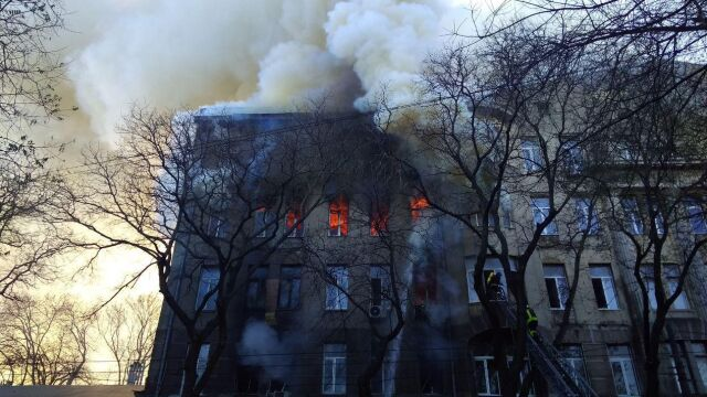 Wielu rannych, kilkunastu zaginionych po pożarze szkoły.