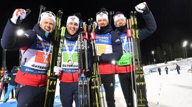 Pierwsza sztafeta w sezonie dla Norwegów. Dwie karne rundy polskich biathlonistów