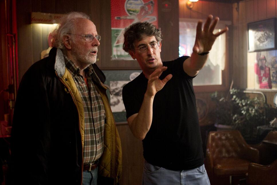 Bruce Dern na planie filmu z reżyserem Alexandrem Paynem