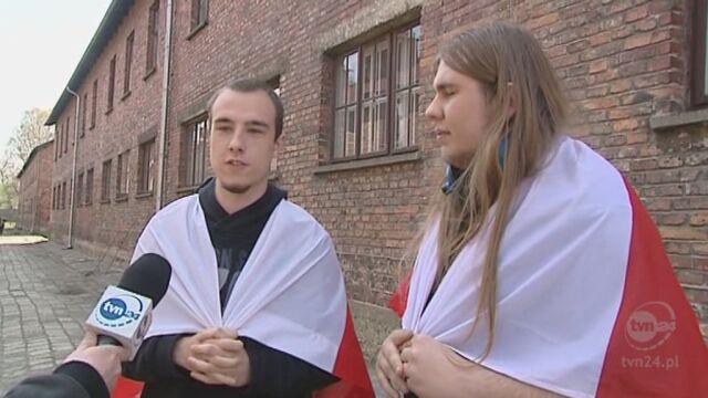 Marsz żywych w Oświęcimiu (TVN24)