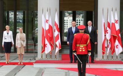 """Prezydent Duda w Gruzji z """"wizytą polityczną"""""""