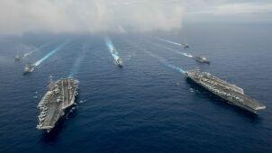 Amerykańskie manewry w pobliżu Iranu. Bombowiec strategiczny w powietrzu