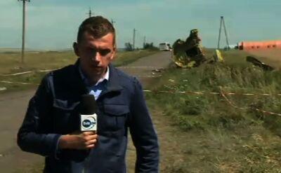 Reporter TVN24 o wybuchach w Doniecku