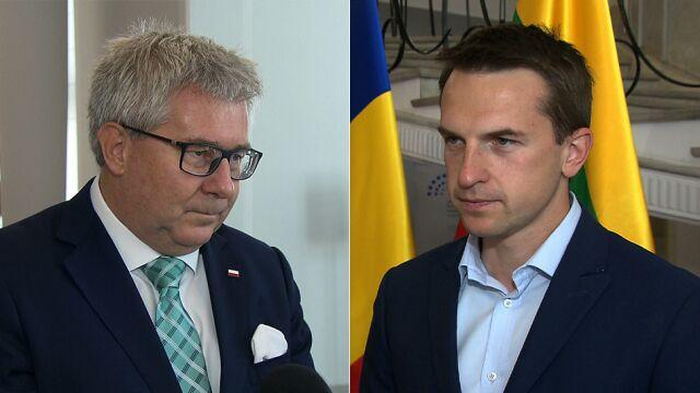 Adam Szłapka i Ryszard Czarnecki komentują wypowiedź Piontkowskiego