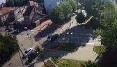 Wypadek w Sokółce. Nagranie z monitoringu