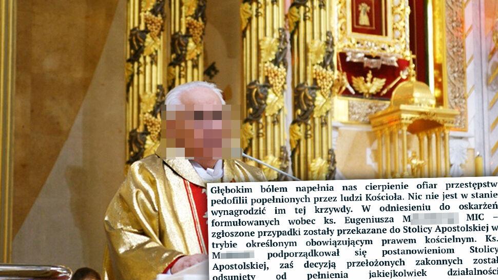 """Ksiądz Eugeniusz M. """"odsunięty od pełnienia jakiejkolwiek działalności duszpasterskiej"""""""