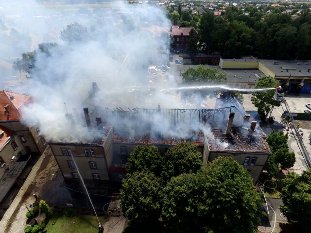 Potężny pożar w Krotoszynie. Płoną szkoła muzyczna i ośrodek pomocy