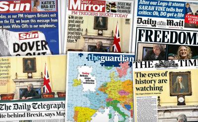 """""""Wolność"""" kontra """"krok w nieznane"""". Brytyjska prasa o początku Brexitu"""