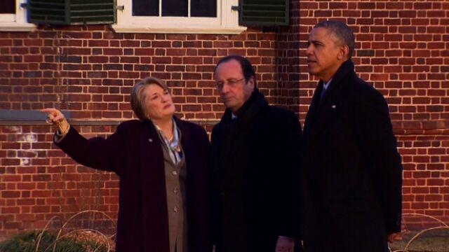 Prezydent Francji odwiedza USA bez pierwszej damy