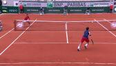 Świetna wymiana w meczu Djoković - Berankis w 2. rundzie Roland Garros
