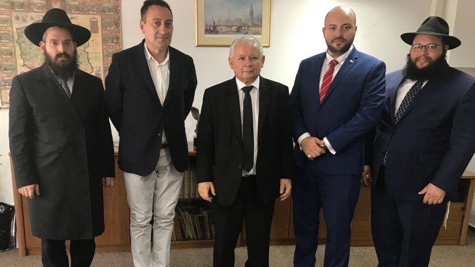 """Prezes PiS rozmawiał z przedstawicielami środowisk żydowskich. """"Doskonałe spotkanie"""""""