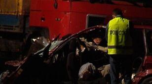 Pięć ofiar wypadku na krajowej 50.