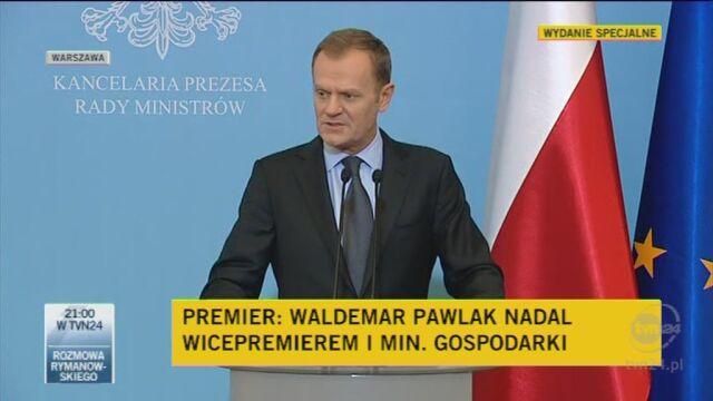 Premier o parytetach w rządzie (TVN24)