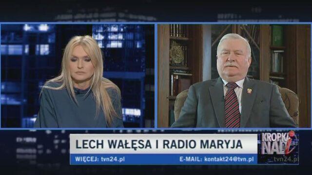 Lech Wałęsa o Rydzyku (TVN24)
