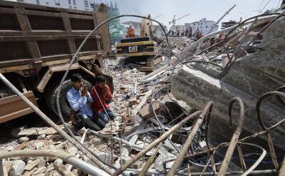 Zawalenie budynku w Kambodży