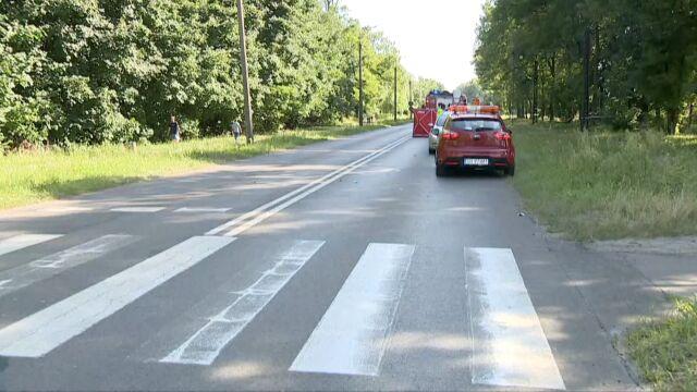 """Motocyklista potrącił kobietę na przejściu. Szła  z dziećmi, """"w ostatniej chwili zdążyła je odepchnąć"""""""