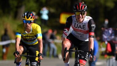 W Kraju Basków powtórka z Tour de France. Pogacar i Roglic poza zasięgiem rywali