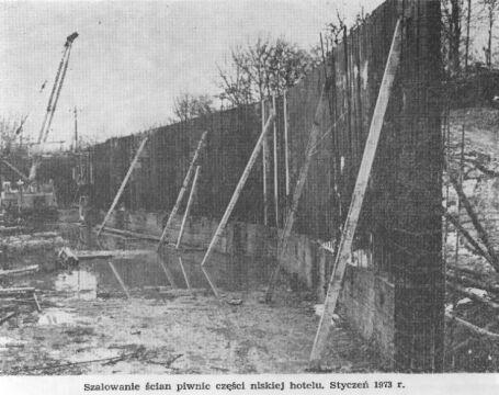 Szalowanie ścian piwnic