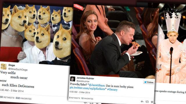 """""""Słitfocia"""", pizza, wróżka. DeGeneres starała się rozruszać gwiazdy"""