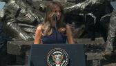 Melania Trump przemówiła na placu Krasińskich