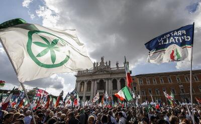 Antyrządowa manifestacja w Rzymie
