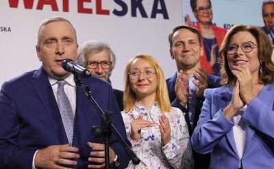 Mirosława Stachowiak-Różecka wygrywa z Grzegorzem Schetyną - cząstkowe wyniki PKW