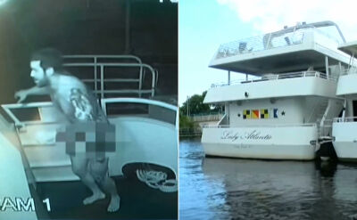 """Nago okradł łódź. """"Nie jesteśmy miejscem, gdzie ubrania to sprawa opcjonalna"""""""