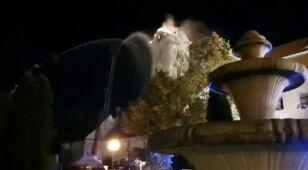 Mieszkańcy zauważyli płomienie. Ogień trawił wieżę kompleksu zamkowo-pałacowego