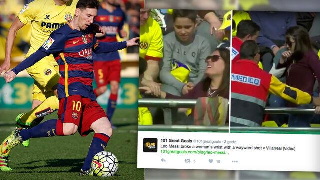 Messi złamał rękę fance Realu